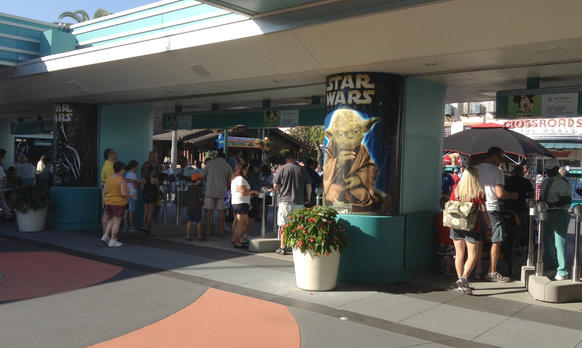 Disney's Hollywood Studios guests enter the park for the first day of Star Wars Weekends 2013.