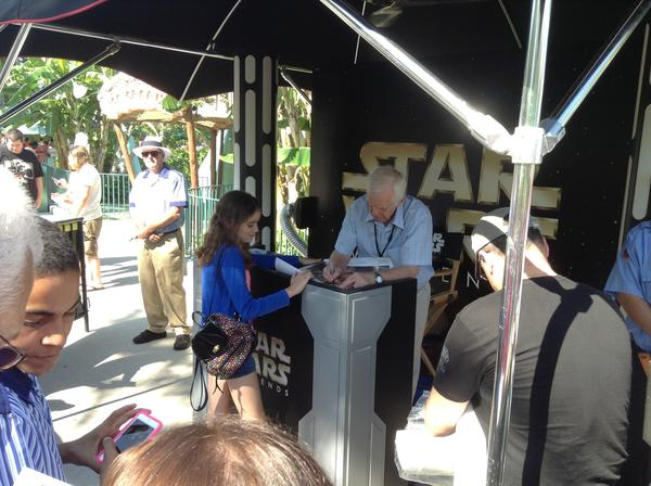 Pictures from Disney's Star Wars Weekends: Jeremy Bulloch, who played Boba Fett on the big screen, signs autographs on the first day of Star Wars Weekends 2013 at Disneys Hollywood Studios.