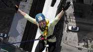 Traci Knowles of Palatine was one of 67 daring participants to rappel 27 stories of theWit Hotel during Skyline Plunge! Chicago on May 5. The event was hosted by Respiratory Health Association to raise funds and awareness for local lung disease research and programs.