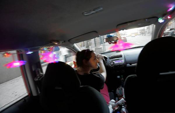 Ruth Grayson is a driver for the hip new car service, Lyft.