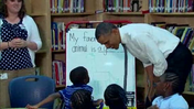 Raw: Obama sits down with elementary kids [Video]