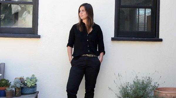 """Tomboy Style"" author Lizzie Garrett in Dockers' first ""women of style"" video."
