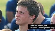 "<span style=""font-size: small;"">Former Lake Highland Prep star Hayden Jones was happy about the news he received on Friday from the admissions office at UCF.</span>"