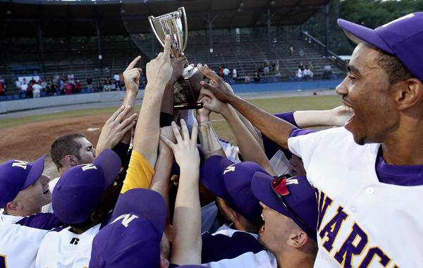 Menchville hoisted the trophy in the 2012 Peninsula District baseball tournament. Who will take the honor in the final one this season?
