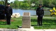 Downers Grove first responders, elected officials and staff members honored the village's only officer to die in the line of duty during an annual ceremony Thursday afternoon.