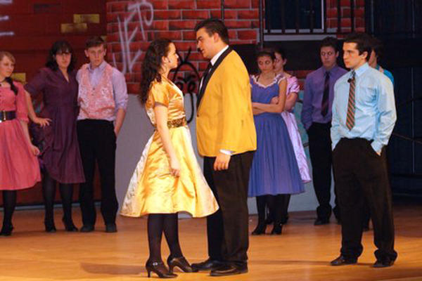 (center) Haley Smith and George Haddad in Northwestern Lehigh's production of 'Westside Story.' /(Ed. Note: FEATURES - Freddys - mc-freddy-nwlehigh-0321)