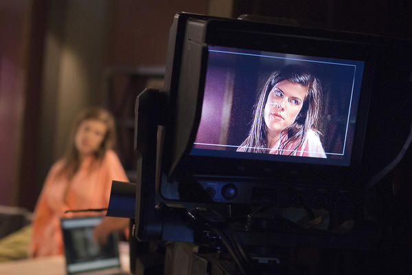 """Actor Kelley Missal is seen on a camera screen on set during filming of the soap opera One Life to Live."""" New 30- minute episodes appear each Monday through Thursday on the free, advertising-supported Hulu.com website and the paid monthly subscription service Hulu Plus."""