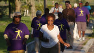 Walkers enjoying their twice-weekly walks in Eatonville.