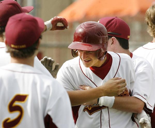 La Cañada High's George Steckbeck had two hits in the Spartans 4-2 win over California in the first round of the CIF Southern Section Division IV playoffs Thursday.
