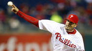 PHILADELPHIA — Mike Adams had hopes of pitching on Sunday. It certainly doesn't sound now like that's going to happen.