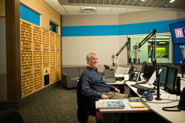 "Scott Simon, host of ""Weekend Edition Saturday,"" at NPR headquarters in Washington."