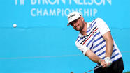 Keegan Bradley shot a one-under-par 69 in a round that started and ended with bogeys, good enough for a three-stroke lead after two rounds in the Byron Nelson Championship at Irving, Texas.