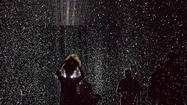 Rain Room installation at the Museum of Modern Art in New York