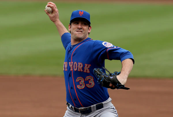 New York Mets starter Matt Harvey pitches against the Chicago Cubs on Friday.