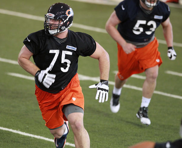 Kyle Long (75) at Bears rookie minicamp.