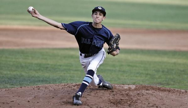Crescenta Valley High pitcher Brian Gadsby threw all eight innings in a narrow, 1-0, loss to visiting Yucaipa in the first round of the CIF Southern Section Division II playoffs.