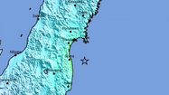 TOKYO (Reuters) - An earthquake with a preliminary magnitude of 5.9 jolted northeastern Japan on Saturday, but no tsunami warning was issued, the Japan Meteorological Agency said.