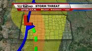 Severe weather threat increases this weekend for Kansas and the central Plains.  Most of Kansas will wake up to low clouds and even some fog.  As the day progresses expect mostly sunny to partly cloudy skies with thunderstorms rapidly developing by afternoon along the dry line which will be positioned across western Kansas.  Some of those storms will be severe with LARGE HAIL, DAMAGING WINDS and even A FEW TORNADOES. The storms will weaken Saturday night as they move to the east, however some of the stronger storms will continue to produce large hail.