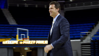 New UCLA basketball Coach Steve Alford's honeymoon was very short