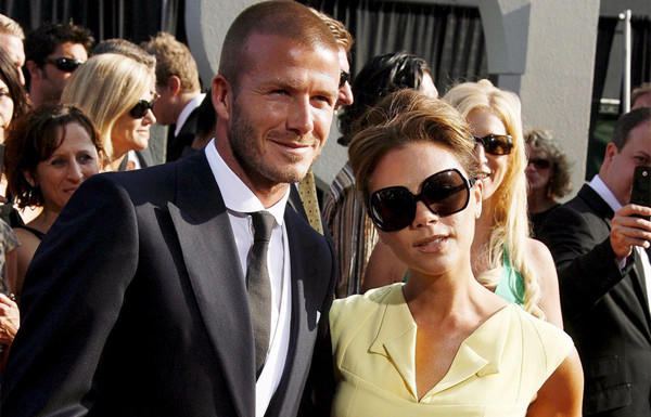 David Beckham and wife Victoria arriving for the 2008 ESPY Awards at Nokia Theatre in Los Angeles.