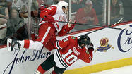 The Red Wings turned the tables on the Blackhawks in the puck-possession game.