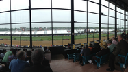 Viewing the races from inside