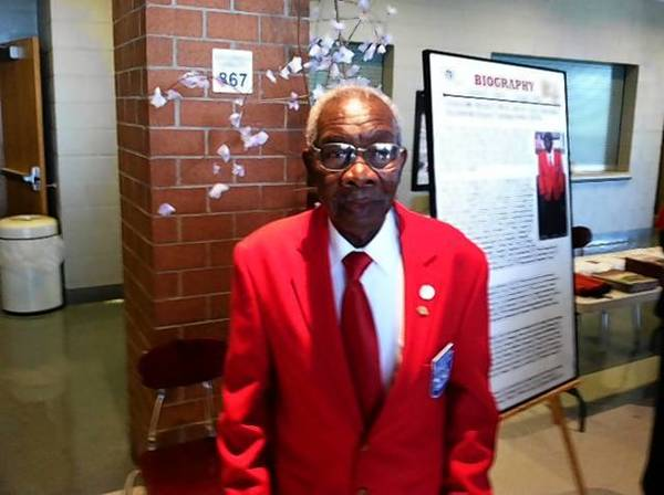 Tuskegee Airman William White, seen Saturday at a ceremony at Smithfield High, received the Congressional Gold Medal for his service during WWII.