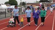 Tina Schaubroeck of Greencastle walked around the track at Kaley Field with a renewed pep in her step during the American Cancer Society's 19th Annual Greencastle Relay for Life on Saturday.