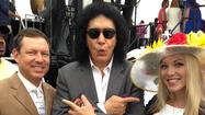Gene Simmons with Jim Seay, Sara Ingram at Preakness 2013