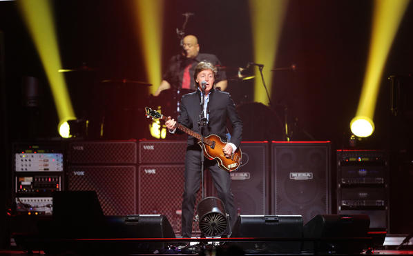 Paul McCartney opens his Out There tour with the first of two nights at Amway Center in Orlando, Fla. Saturday, May 18, 2013.   (Gary W. Green/Orlando Sentinel)