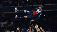 PARIS -- Zlatan Ibrahimovic scored twice while David Beckham produced an emotional Parc des Princes farewell as Ligue 1 champions Paris St Germain beat bottom club Stade Brest 3-1 on a memorable night on Saturday.