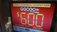 The winning numbers of Saturday's Powerball drawing – with a jackpot estimated at $600 million – are 10, 13, 14, 22, 52 and Powerball 11.