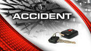 JAMES CITY -Two cars racing in the upper county Saturday afternoon led to an accident in which the driver of one of the cars was unknowingly dragged about four miles. Two other people were hospitalized.