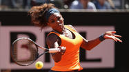 ROME -- Serena Williams won her fourth consecutive tennis tour title when she thrashed former world number one Victoria Azarenka 6-1 6-3 to take the Italian Open on Sunday.