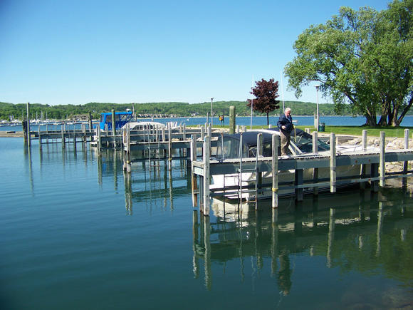 Boyne City's F. Grant Moore municipal marina.