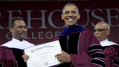 Obama urges Morehouse College graduates to help others