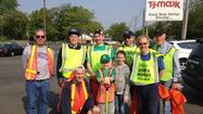 (Evanston, IL) – Volunteers from Evanston Lighthouse Rotary Club performed their quarterly Golf Road cleanup on Saturday.  Organizied by Sam Lovering, the volunteers scoured the roadside area between McCormick and Crawford, picking up about 80 pounds of trash including a pair of men's pants, a credit card, hundreds of cigarette butts and a Rotarian who had expired during the last clean-up event four months ago.