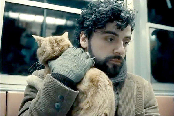 "Oscar Isaac in the Coen brothers movie ""Inside Llewyn Davis."""