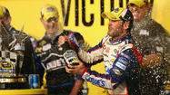 Jimmie Johnson became the first four-time winner of NASCAR's annual All-Star race Saturday night at Charlotte Motor Speedway.