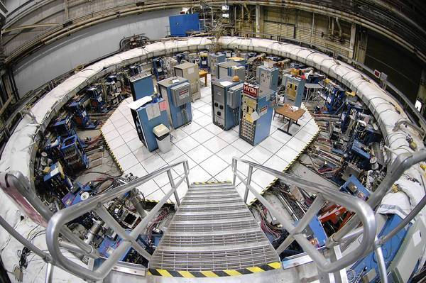The Muon g-2 storage ring, in its current location at Brookhaven National Laboratory in New York. The ring, which will capture muons in a magnetic field, must be transported in one piece to Fermilab in Batavia, west of Chicago.