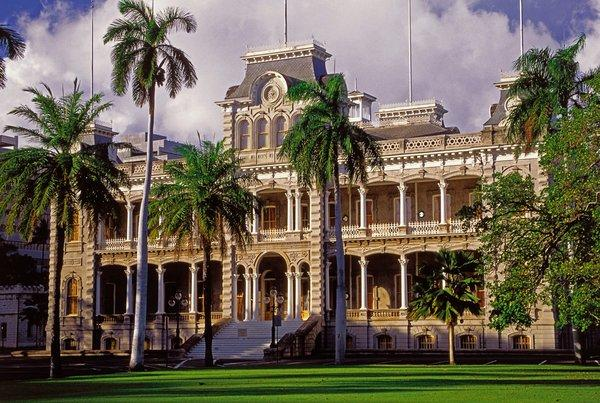 The Iolani Palace in Honolulu was built in in 1882.