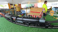 Kids couldn't get enough Sunday of a 59-foot-long inflatable train at Railroad Heritage Days.
