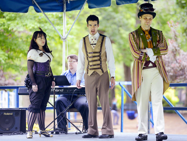 "Members of the Hub Opera Ensemble performed selections from ""Don Giovanni"" Sunday afternoon at Hagerstown's City Park."