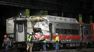 About 30,000 commuters in Connecticut and New York braced for a sluggish trek to work on Monday -- and for the rest of the week -- as officials continued to investigate why two trains slammed into each other in Bridgeport, Conn., on Friday evening.