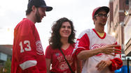 <strong>Editor's note:</strong><em> As the Blackhawks and Detroit face off in the postseason for what might be the last time for a while, it's the perfect time to see how the other half cheers. RedEye sent Rob Cressy, dressed in Bulls gear, to Red Wings stronghold Tin Lizzie (2483 N. Clark St.) for Game 1. Here's what he saw.</em>