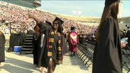 "<span style=""font-size: small;"">More than 3,000 graduates filed into Notre Dame Stadium Sunday for commencement ceremonies. </span>"