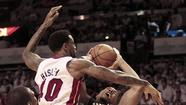"<span style=""font-size: small;"">MIAMI (AP) — A year ago when Miami and Indiana faced off in the postseason, there were blood-drawing hits, flagrant fouls, technical fouls, choke signs being directed toward LeBron James and more than a few sharp-tongued comments.</span>"
