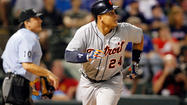 ARLINGTON, Texas -- Miguel Cabrera's three home runs were not enough on Sunday night as the Texas Rangers downed the Detroit Tigers 11-8 at Rangers Ballpark.