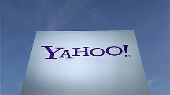 A Yahoo sign in Sunnyvale, Calif.