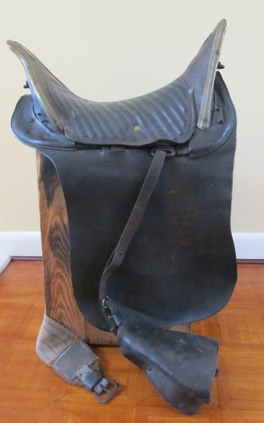 This saddle used by a soldier from Connecticut during the Civil War is among the items on display in an exhibit on the Battle of Gettysburg that will be at the Avon Free Public Library this summer.
